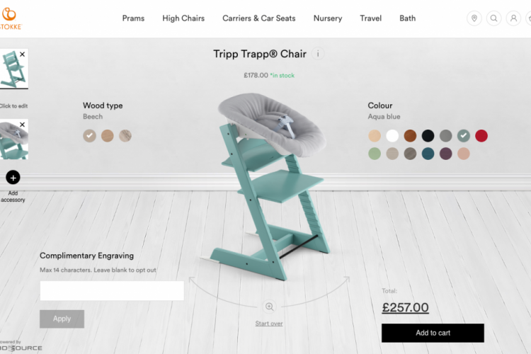 3D product configurator and ordering system